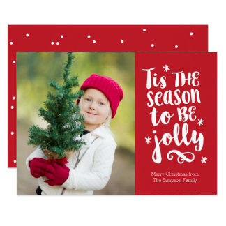 'Tis the Season Red Holiday Photo Card