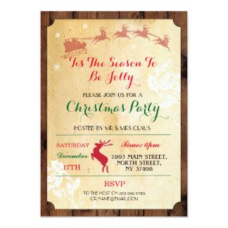 Tis The Season Reindeer Christmas Party Invite