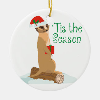Tis The Season Round Ceramic Decoration