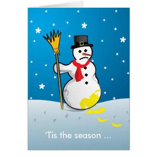 'Tis the season ... Sad Snowman Card