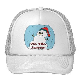 Tis The Season Snowman Trucker Hat