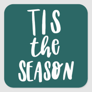 Tis the season square sticker
