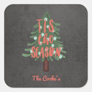 Tis the season square sticker