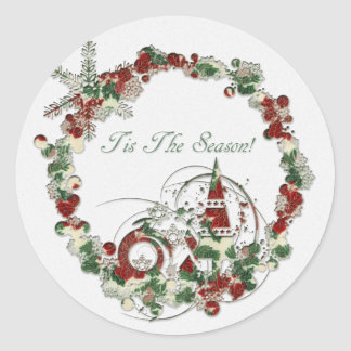 Tis The Season Classic Round Sticker