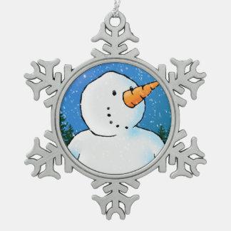 'Tis The Season To Be Jolly Pewter Snowflake Decoration