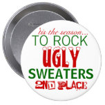 'tis the season to rock ugly sweaters 10 cm round badge