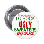 'tis the season to rock ugly sweaters 6 cm round badge