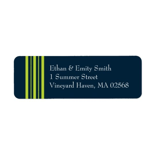 Tisbury - Navy and Green - Return Address Lables