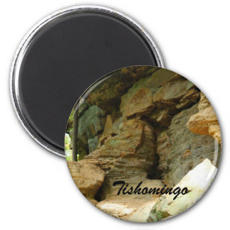Tishomingo Rock Formation II 6 Cm Round Magnet