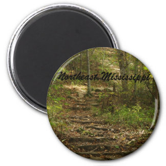 Tishomingo Rock Path 6 Cm Round Magnet