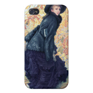 Tissot October Woman Black Dress Fall Orange Leaf iPhone 4/4S Case
