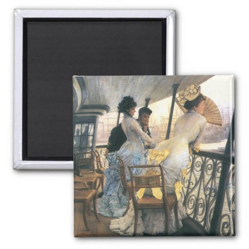 Tissot: The Gallery of the H.M.S. Calcutta Square Magnet