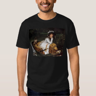 Tissot young lady and pug antique painting shirts