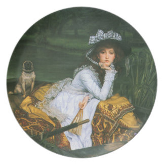 Tissot: Young Lady in a Boat Plate