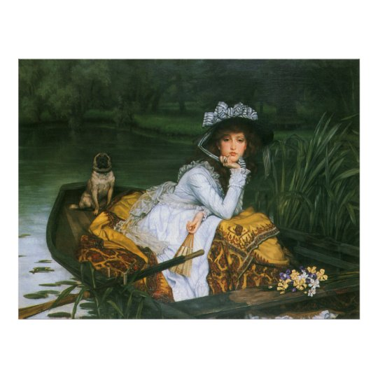 Tissot: Young Lady in a Boat Poster