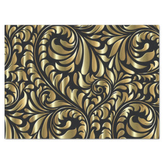 Tissue Gift Wrap - Drama in Black and Gold Tissue Paper