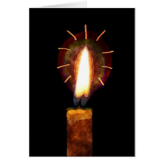 Tissue Paper Candle Christmas Blank Note Card