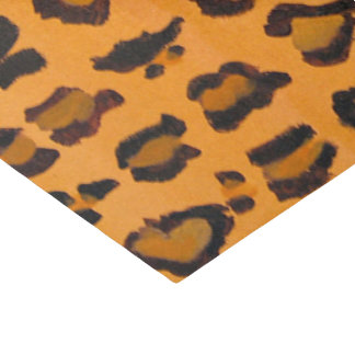 Tissue Paper Chic Hand-painted Leopard Print