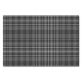 Tissue paper Christmas  black silver grey plaid