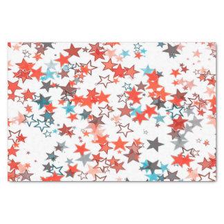 Tissue paper Christmas stars red white blue