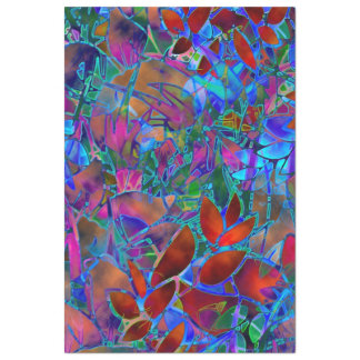 Tissue Paper Floral Abstract Stained Glass