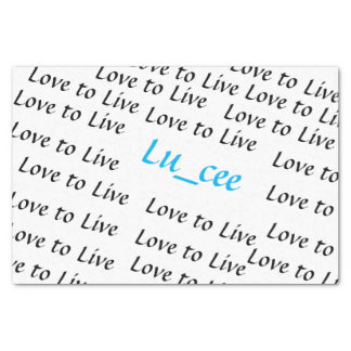 Tissue Paper Lu_cee Love to Live