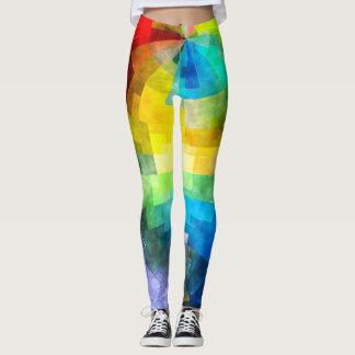 Tissue Paper Rainbow Leggings