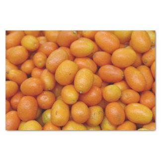 Tissue Paper with fresh ripe orange cumquat