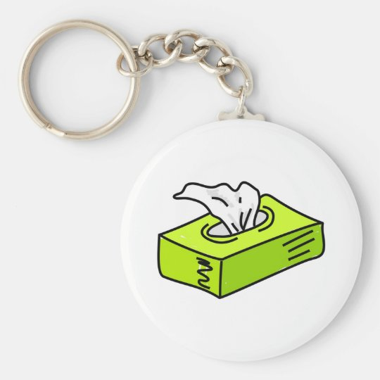 Tissues Basic Round Button Key Ring