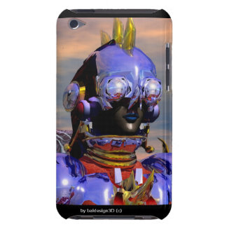 TITAN CYBORG PORTRAIT Blue Science Fiction ,Scifi Barely There iPod Covers