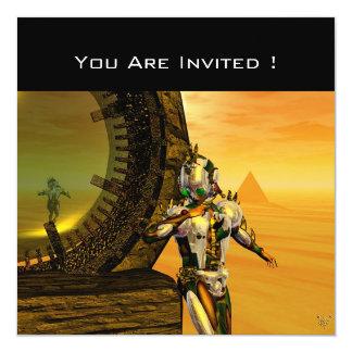 TITAN IN THE DESERT OF HYPERION 13 CM X 13 CM SQUARE INVITATION CARD
