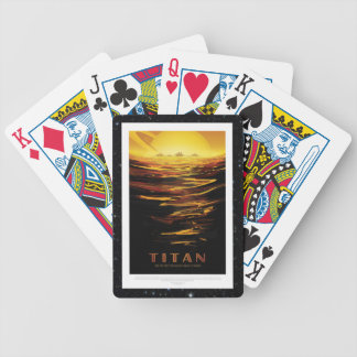 Titan Moon of Saturn vacation advert space tourism Bicycle Playing Cards