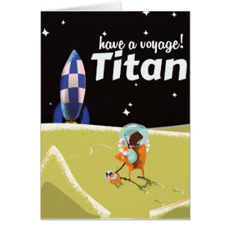 Titan vintage travel poster card
