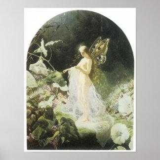 Titania, 1866 Vintage Fairy Painting Poster