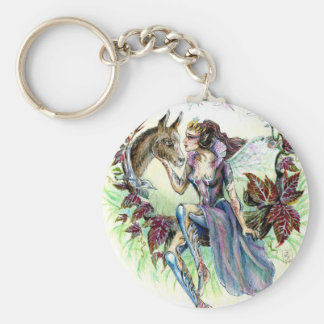 Titania and Bottom Basic Round Button Key Ring