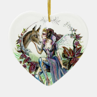 Titania and Bottom Ceramic Heart Decoration