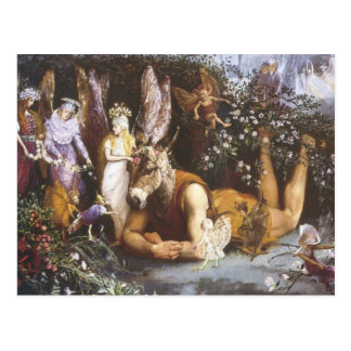 Titania and Bottom,Midsummer Night's Dream Postcard