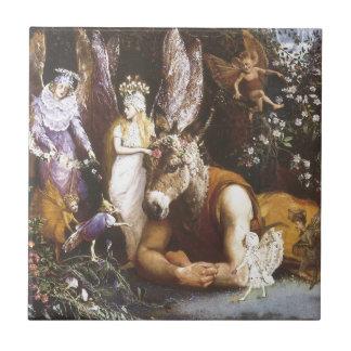 Titania and Bottom,Midsummer Night's Dream Small Square Tile