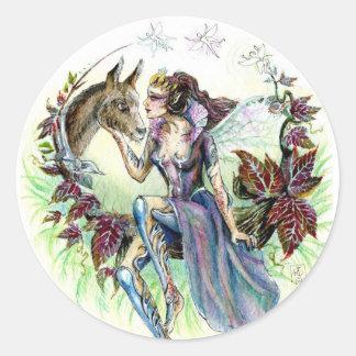 Titania and Bottom Round Sticker