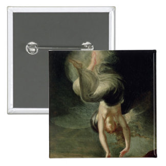 Titania finds the magic ring on the shore 15 cm square badge