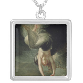 Titania finds the magic ring on the shore silver plated necklace