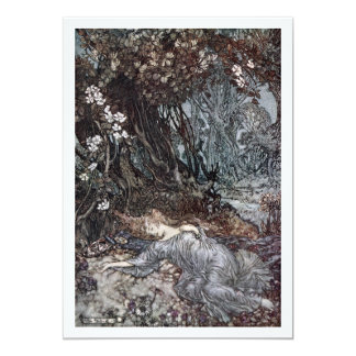 Titania Lying Asleep 13 Cm X 18 Cm Invitation Card