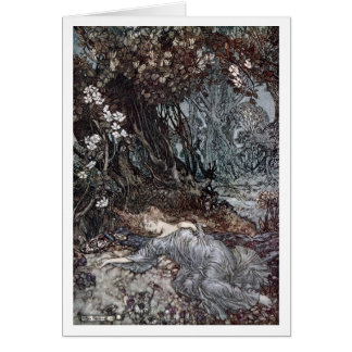 Titania Lying Asleep Greeting Card