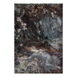 Titania Lying Asleep Poster