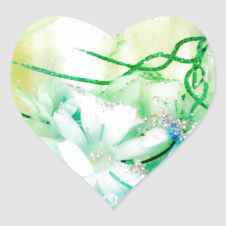 """Titania's Garden"" collection Heart Sticker"