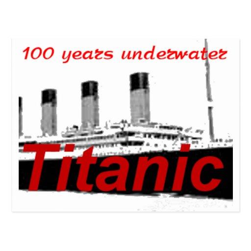 Titanic: 100 Years Underwater Postcard