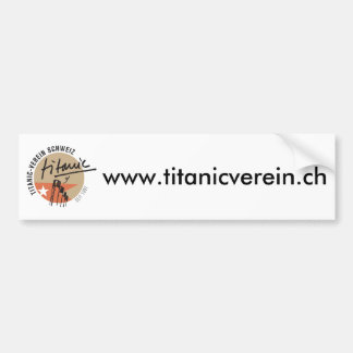 Titanic association Switzerland autosticker Bumper Sticker