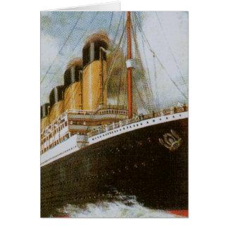 Titanic at Sea Card