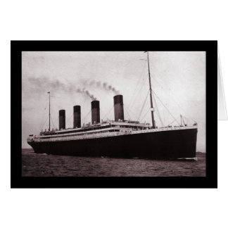 Titanic at Sea Card