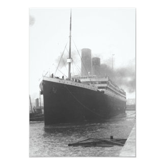 Titanic at the docks of Southampton Invite